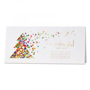Carte de vœux entreprise sapin de Noël coloré