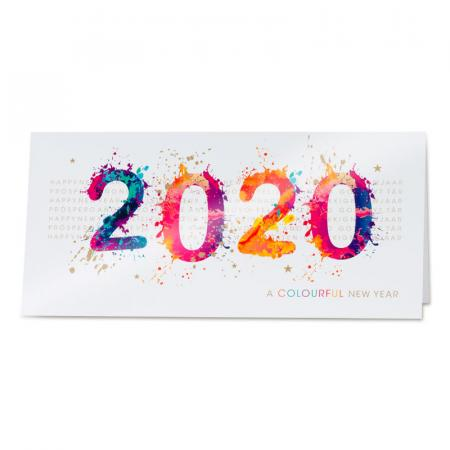 Carte colourful new year