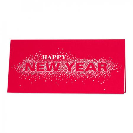 Carte Happy New Year rouge